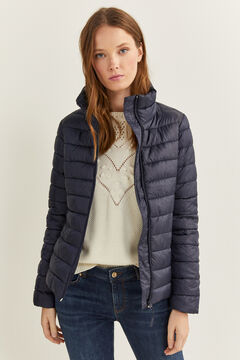 Springfield Lightweight Printed Jacket navy mix