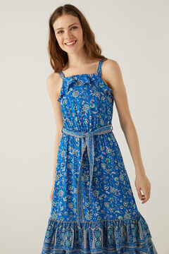 Springfield Halterneck midi dress acqua