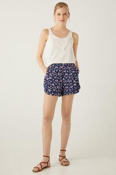 Springfield Printed floaty shorts blue