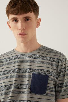 Springfield Printed jersey-knit short pyjamas bluish