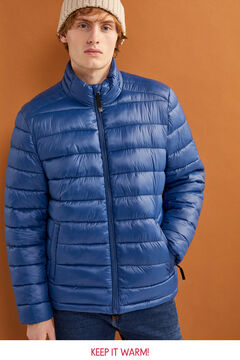 Springfield Water-repellent padded jacket blue
