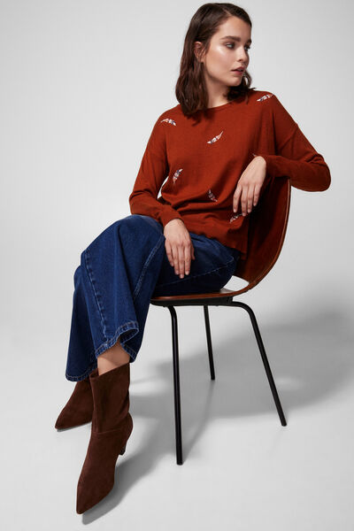 Springfield - Embroidered feather jumper - 1