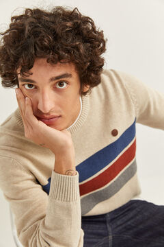 Springfield TEXTURED STRIPES JUMPER camel