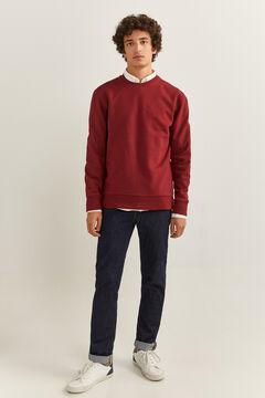 Springfield Crew neck sweatshirt deep red