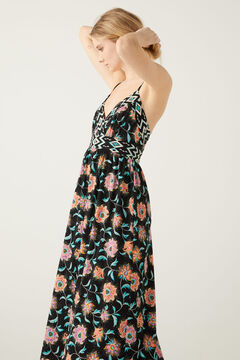 Springfield Printed midi dress black