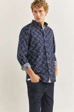 Springfield Camisa estampada azul indigo
