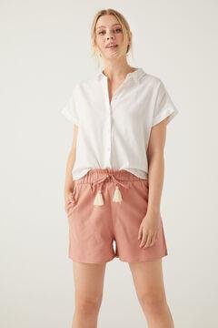 Springfield Short jogger algodón rosa