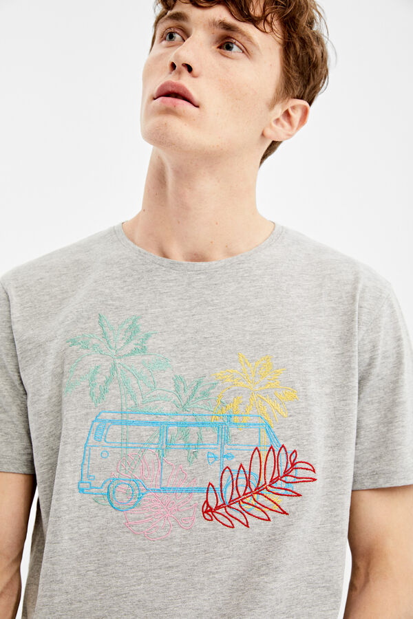 bccd452e8ff Springfield Short-sleeved van t-shirt grey