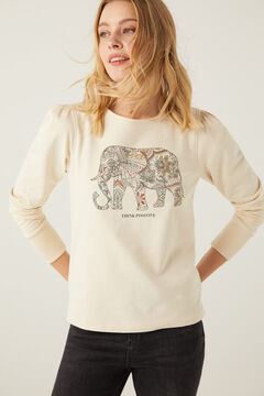 Springfield Think Positive sweatshirt beige