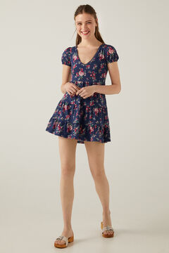 Springfield Printed short dress  acqua