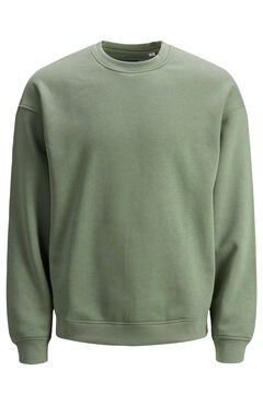 Springfield Plain round neck sweatshirt green