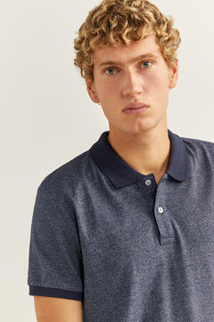 Springfield Micro-striped slim fit jersey polo bluish