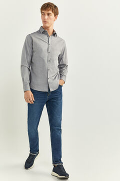 Springfield CHEMISE PINPOINT SLIM gris