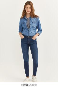 Springfield Jeans Slim recycelte Baumwolle blau