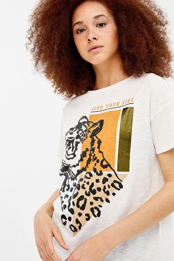 98bacdc83 Springfield Camiseta estampado gráfico animal natural