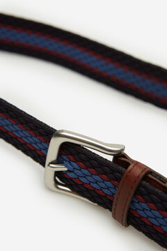 Springfield Multicoloured woven belt blue