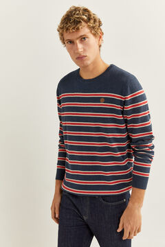 Springfield Essential melange stripes jumper blue