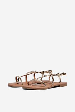 Springfield Flat animal print sandals brown