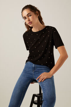 Springfield Pearl front T-shirt black