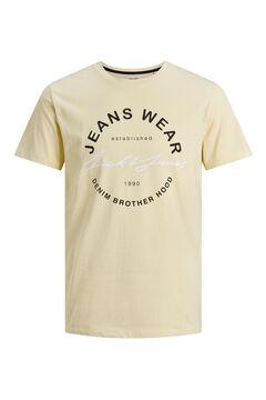 Springfield Logo text t-shirt sárga