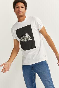 Springfield FLOWER PRINT T-SHIRT white