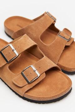 Springfield Cork sole leather sandal beige