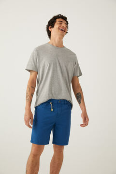 Springfield Washed slim fit 5-pocket Bermuda shorts steel blue