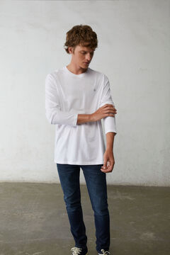 Springfield Camiseta manga larga básica blanco