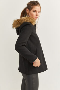 Springfield Fur Hood Coat black