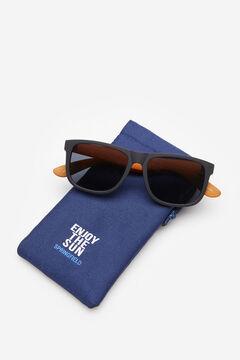 Springfield Rubberised corozo sunglasses bluish