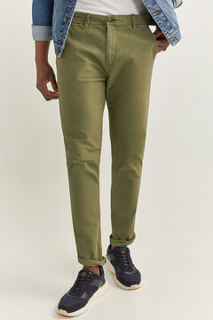 Springfield GARMENT-DYED CHINOS green