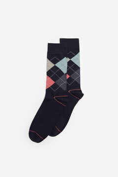 Springfield Diamond socks blue