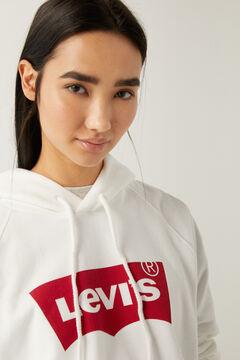 Springfield Sweatshirt básica com capuz  branco
