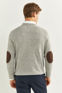Springfield SUEDE ELBOW PADS JUMPER grey mix