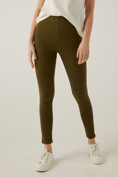 Springfield Essential organic cotton leggings green