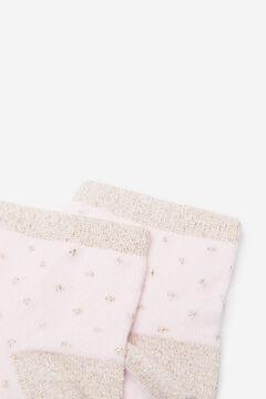 Springfield Calcetín corto Topitos lúrex rosa