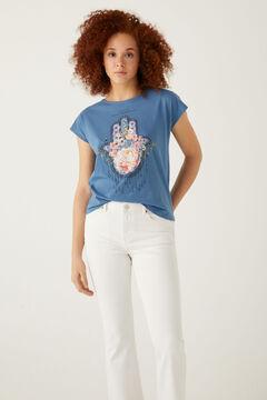 Springfield T-shirt ethnique blau
