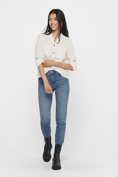 Springfield Plain long-sleeved shirt pockets white