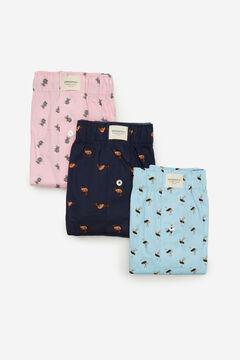 Springfield 3-pack animal woven boxers pink