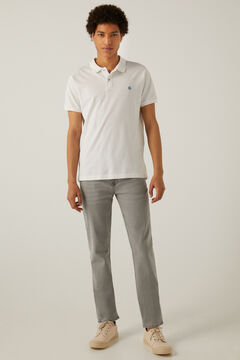 Springfield Grey light wash slim fit jeans grey