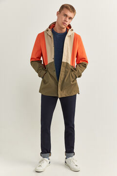 Springfield RECYCLED POLYESTER COLOUR BLOCK JACKET red
