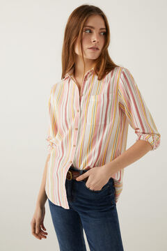 Springfield Multicoloured stripe shirt violet