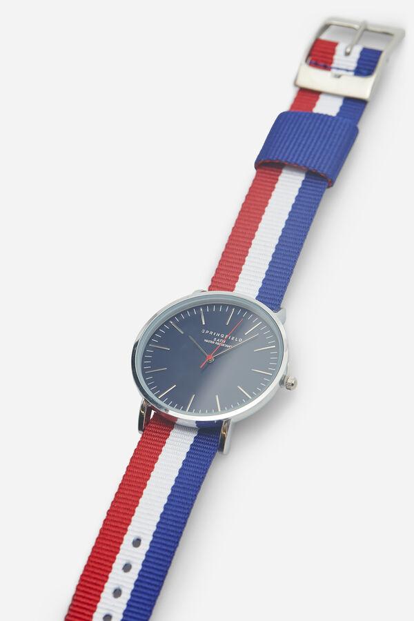 d5c12a8af960 Springfield Reloj clásico con correa reversible azulado