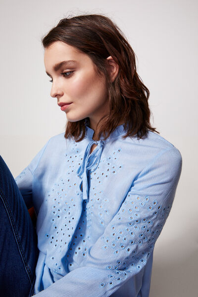 Springfield - Swiss embroidery romantic blouse - 3