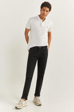 Springfield REGULAR FIT COLOURED 5-POCKET TROUSERS black