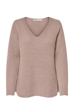Springfield Loose fit knit jumper pink