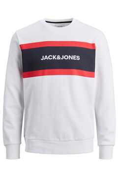 Springfield Colour block logo sweatshirt white