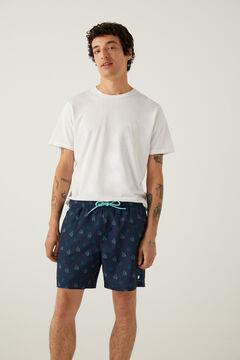 Springfield Octopus print swimming shorts navy mix