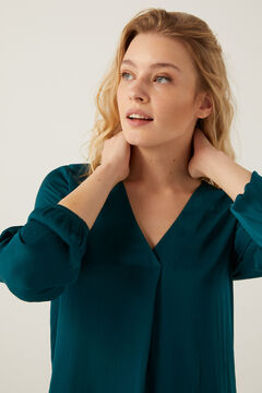 Springfield Floaty pleated neckline blouse oil