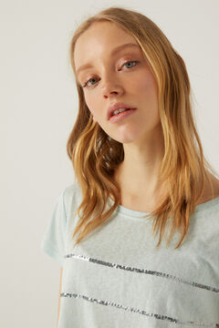 Springfield Camiseta rayas lentejuelas caza oscuro